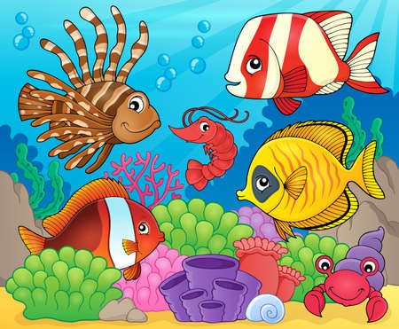 fauna: Coral fauna theme image 8 - eps10 vector illustration. Illustration