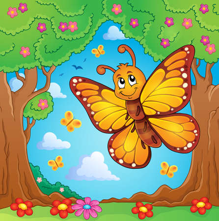 Happy butterfly topic image 4 - eps10 vector illustration. Illustration