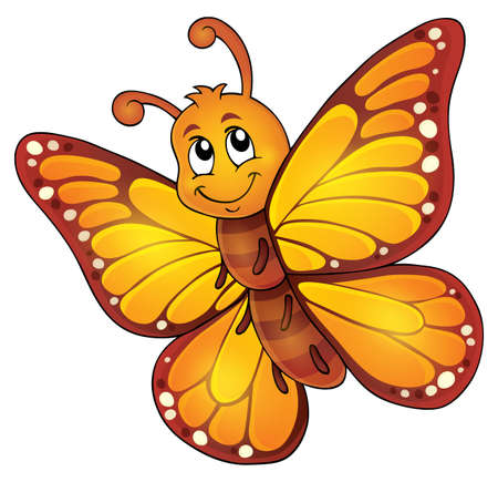 Happy butterfly topic image 1 - eps10 vector illustration. Illustration