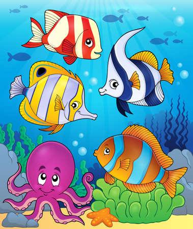 fauna: Coral fauna theme image 5 - eps10 vector illustration.