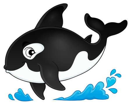 orca: Orca theme image 1 - eps10 vector illustration. Illustration