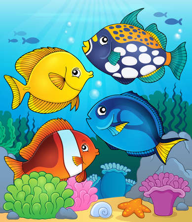 coral reef fish: Coral reef fish theme image 4 - eps10 vector illustration.