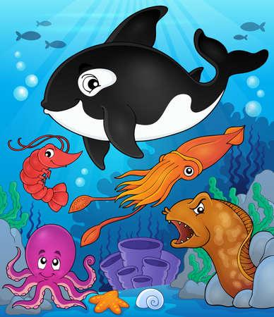fauna: Ocean fauna topic image 8 - eps10 vector illustration.
