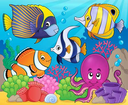 sealife: Coral fauna theme image 7 - eps10 vector illustration.