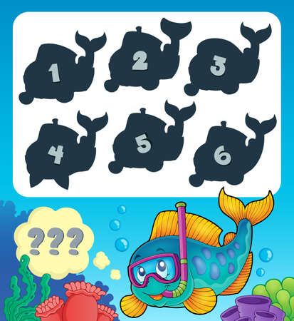 riddle: Fish riddle theme image 9 - eps10 vector illustration.
