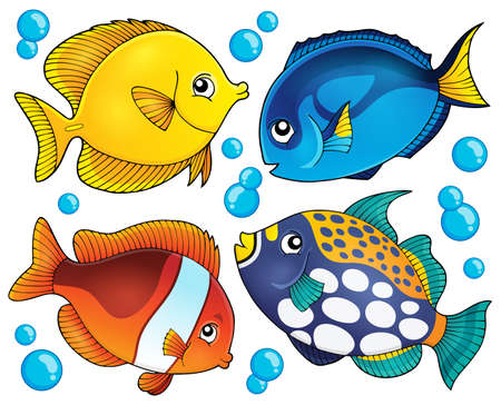 reef: Coral reef fish theme collection 2 - eps10 vector illustration.