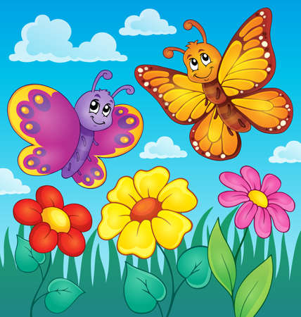lepidoptera: Happy butterflies theme image 7 - eps10 vector illustration.