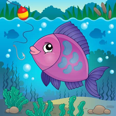 freshwater fish: Freshwater fish  vector illustration.