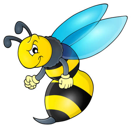 sting: Wasp  vector illustration.