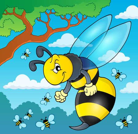 wasp: Wasp  illustration.