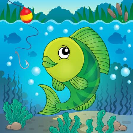 freshwater fish: Freshwater fish vector illustration. Illustration