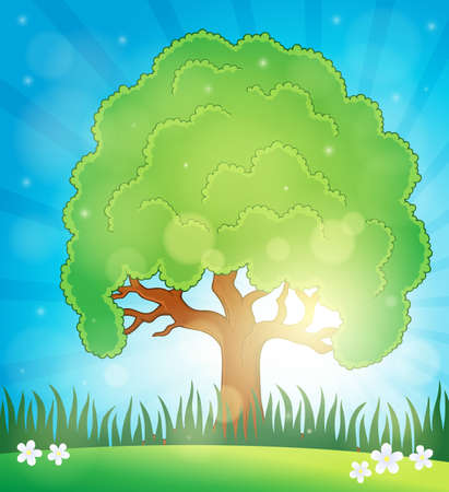 sunbeam background: Spring topic background 5 - eps10 vector illustration. Illustration