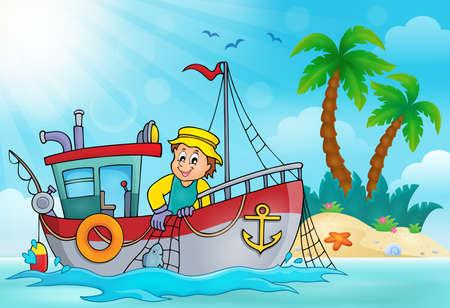 fishing net: Fishing boat theme