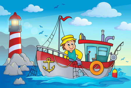 Fishing boat theme