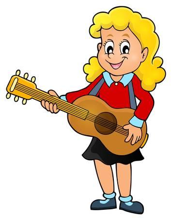 Guitarrista de la muchacha