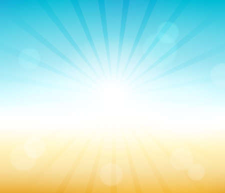 Summer theme abstract background Ilustracja