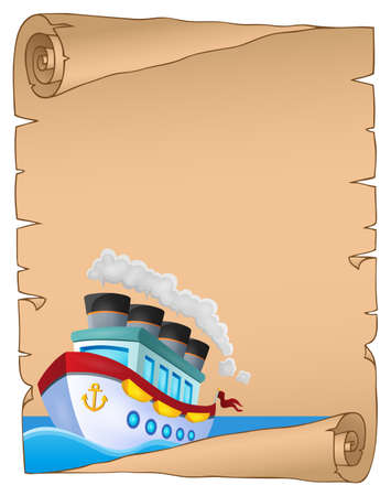 classic classical: Parchment with nautical ship theme