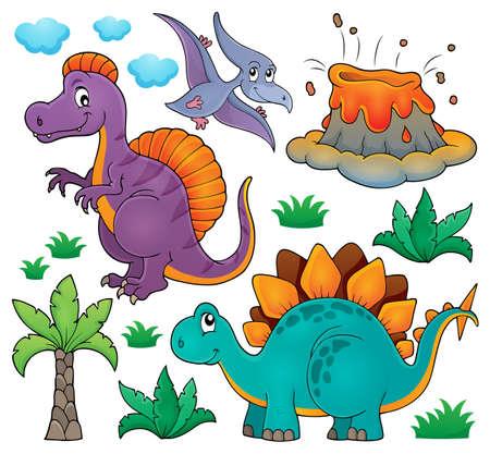 topic: Dinosaur topic set Illustration
