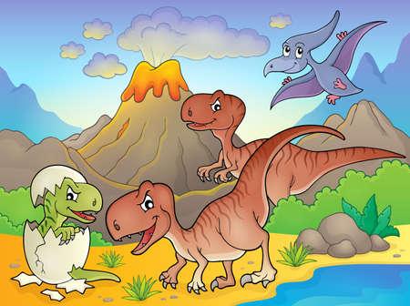 topic: Dinosaur topic image Illustration