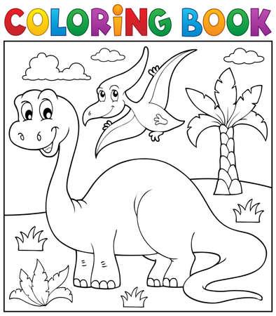 Kolorowanka Dinozaur tematu Ilustracje wektorowe