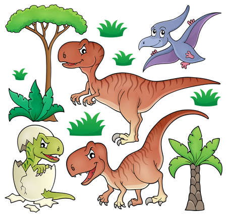prehistorical: Dinosaur topic set Illustration