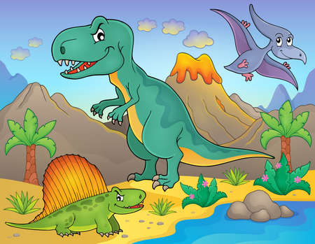 magma: Dinosaur topic image Illustration