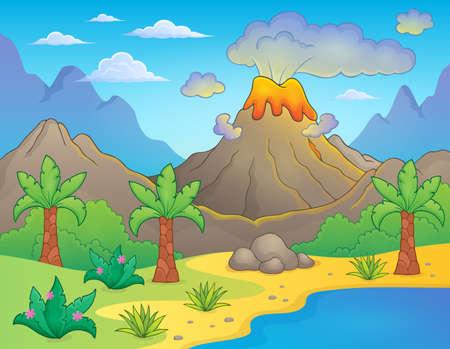prehistorical: Prehistoric theme landscape Illustration