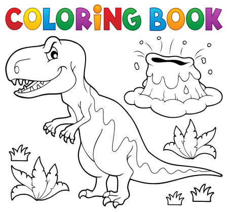 Coloring book dinosaur topic