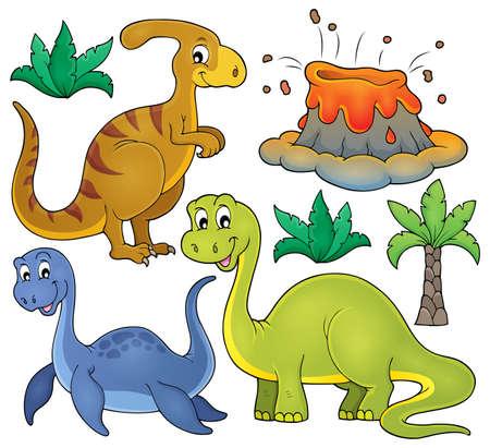 brontosaurus: Dinosaur topic set Illustration