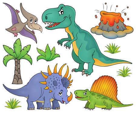 tyrannosaur: Dinosaur topic set Illustration
