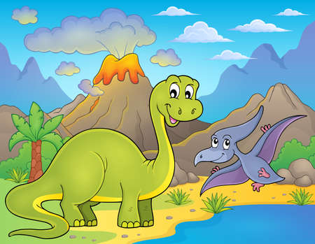 prehistory: Dinosaur topic image Illustration