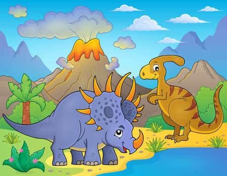 prehistorical: Dinosaur topic image Illustration