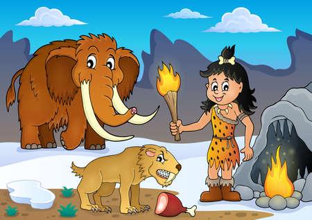 saber tooth: Prehistoric theme
