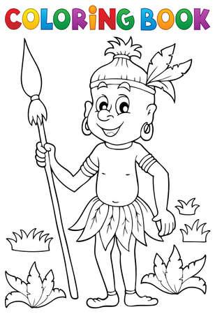 aborigine: Coloring book Aborigine Illustration