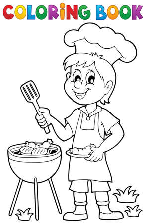 grilling: Coloring book barbeque theme