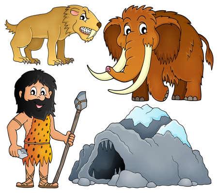 cazador: tema conjunto prehistórico