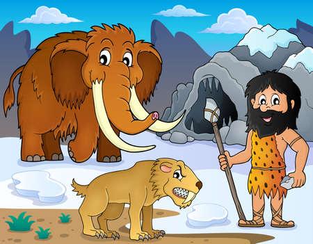 saber tooth: Prehistoric theme image