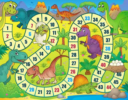 prehistorical: Board game with dinosaur theme 1 - vector illustration. Illustration