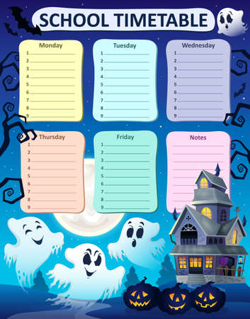 cronograma: composici�n calendario semanal de la escuela