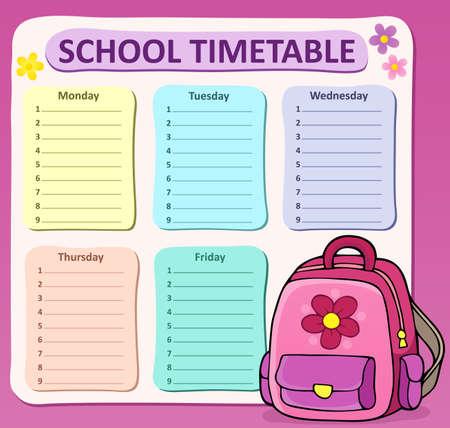 cronograma: composición calendario semanal de la escuela