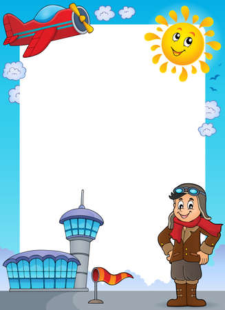 thematic: Aviation thematic frame Illustration