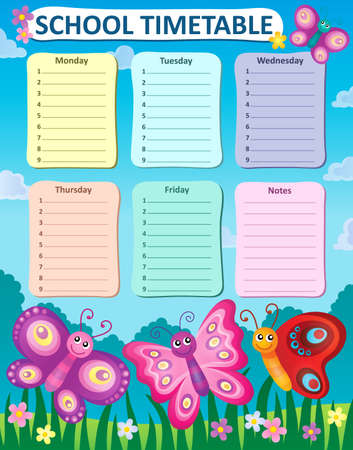 weekly: Weekly school timetable concept