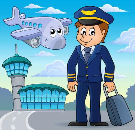 aircraft: Aviation theme Illustration