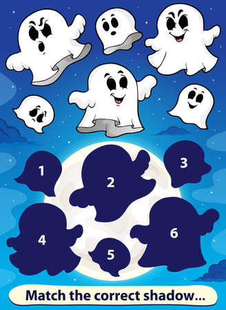shadow match: Shadow match game with ghosts Illustration