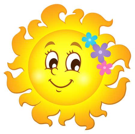 sunshine: Happy spring sun theme Illustration