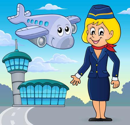 Aviation Thema Vektorgrafik