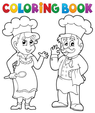 Coloring book chef theme