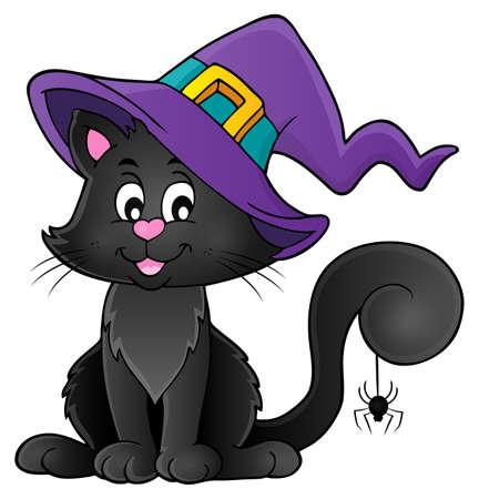 Tema del gato de Halloween Foto de archivo - 61008981