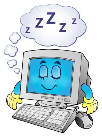 Computer theme Vektorové ilustrace