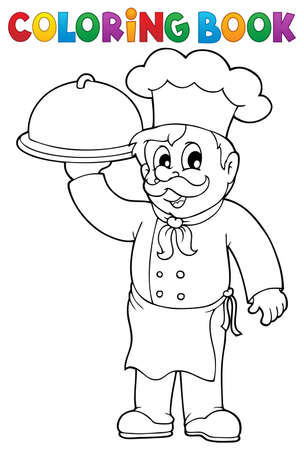 restaurateur: Coloring book chef Illustration